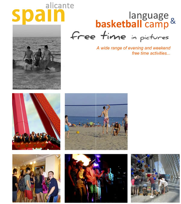 Activities Basketball summer camp Alicante Spain