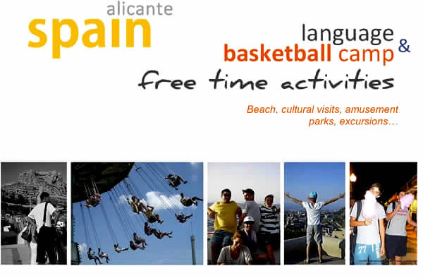 Activity Programme at the Basketball Summer Camp in Alicante Spain