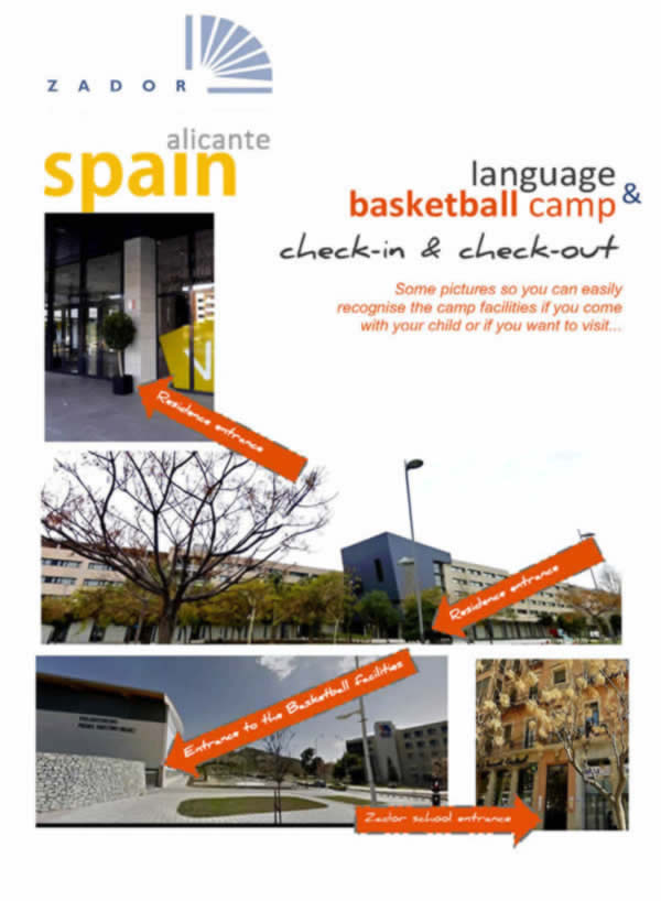 Basketball Camp Alicante arrival and departure information