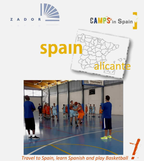 Where is the International Language and Basketball Camp in Spain
