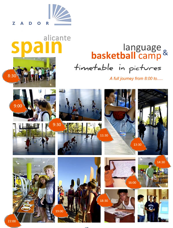 Schedule Language and Basketball Camp Alicante Spain